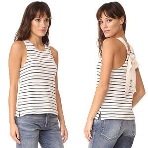 Madewell Camille Striped Tie Bow Back Tank Top
